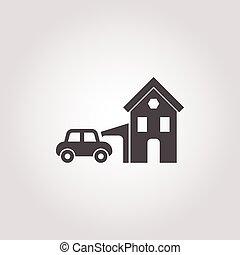 garage icon on white background