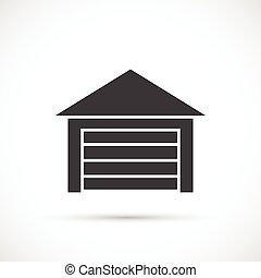 Garage icon on white