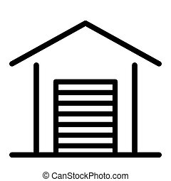 Garage line icon. Car garage vector illustration isolated on white. Auto garage outline style design, designed for web and app. Eps 10.