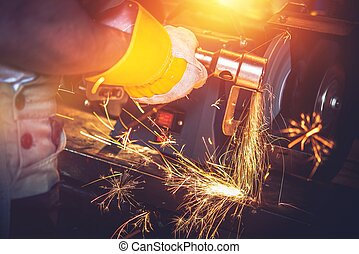 Garage Metal Works. Metal Cleaning by Heavy Duty Spinning...