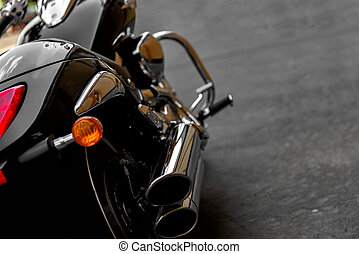 garage, motocyclette, stationnement