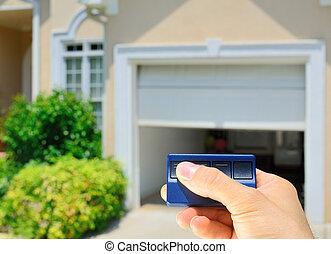 garage, ouvreur, porte