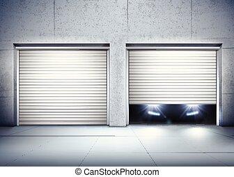 Garage Realistic Composition