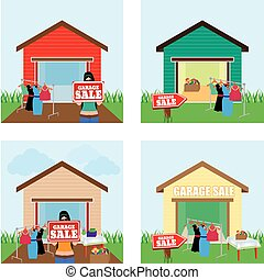 Garage Sale - abstract garage sale background with some ...