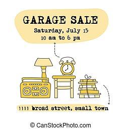 Garage sale banner - Garage sale, household used goods....