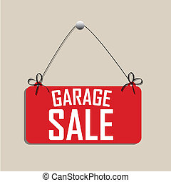 garage sale signal on light brown background