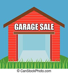 Garage Sale - abstract garage sale background with some...
