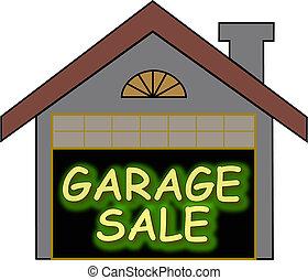 Garage Sale glow opt - Big glowing garage sale sign inside...