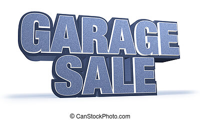Garage Sale Jeans Sales Campaign Title in Huge Letters...