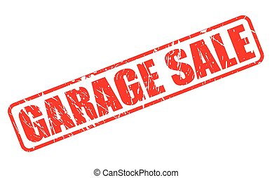Garage sale red stamp text