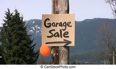 "Garage Sale Sign - A home-made ""Garage Sale"" sign done with..."