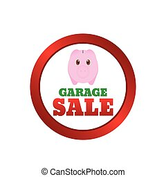 Garage Sale - abstract garage sale object on a white...