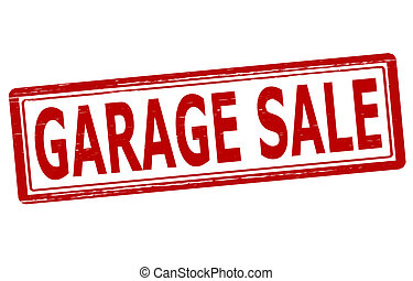 Garage sale - Stamp with text garage sale inside, vector...