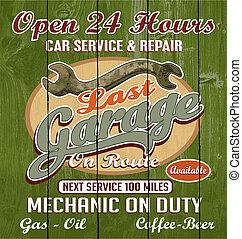 garage, senast
