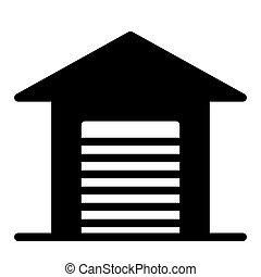 Garage solid icon. Car garage vector illustration isolated on white. Auto garage glyph style design, designed for web and app. Eps 10.