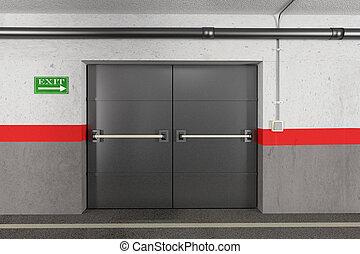 garage, sortie