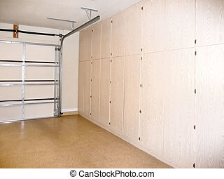 garage storage closets - home garage with storage closets