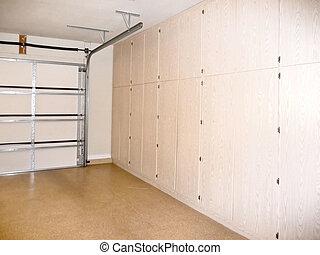 garage storage closets - home garage with storage closets