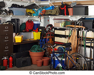Garage Stuff - Busy corner of an over loaded garage.