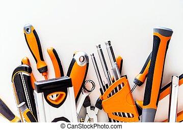 Garage Tools Set on White