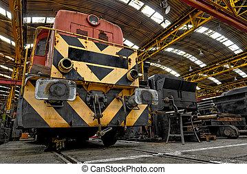 garage, train, fret