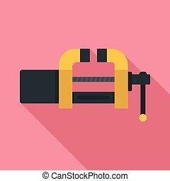 Garage vice icon, flat style