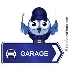 garage, zeichen