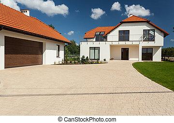 garagem, casa, modernos, outbuilding