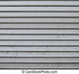 garagem, metal, porta, fundo