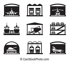garagens, transporte