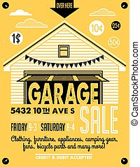 garaje, cartel, venta
