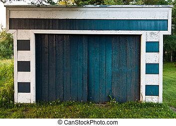 garaje, en, naturaleza