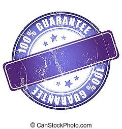 Garantee violet stamp.