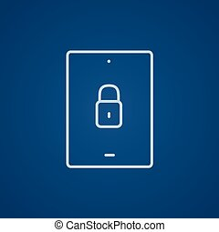 garanti, beklæde, icon., tablet, digitale