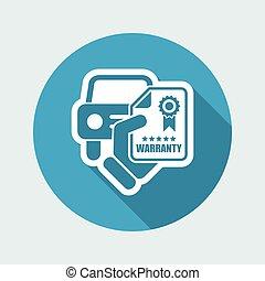 garantia, car, ícone