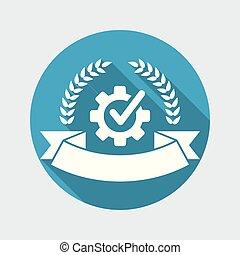 garantia, etiqueta, prêmio, ícone