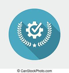 garantia, industrial, prêmio, ícone