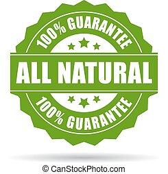 garantia, natural, ícone