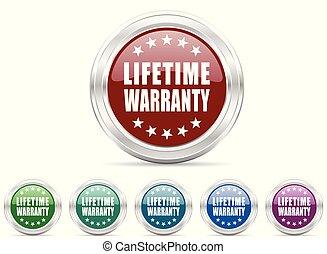 garantia, teia, jogo, vetorial, vida, ícone