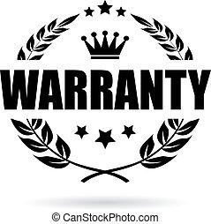 garantia, vetorial, ícone