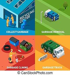 Garbage 2x2 Isometric Design Concept - Isometric 2x2 design ...