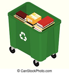 Garbage and books
