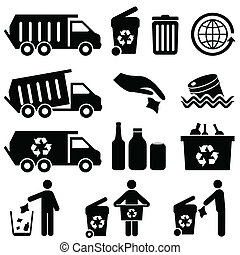 Garbage and recycling symbols