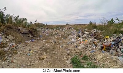 Garbage And Wastes Dumped In Heap At Suburbs In Ukraine