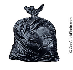 Garbage Bag - Garbage bag isolated on a white background as...
