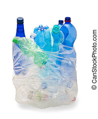 garbage bag with plastic bottles