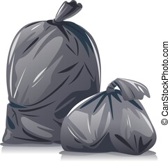 Garbage bags composition isolated