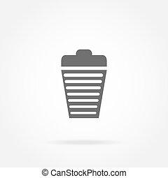 garbage basket icon