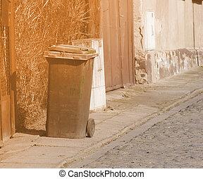 Garbage Bin City Streets