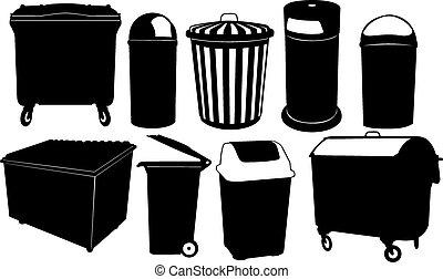 bin - garbage bin set